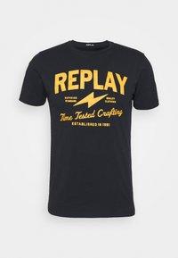 Replay - TEE - T-shirt imprimé - blue - 4