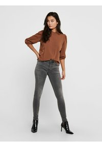 ONLY - Button-down blouse - tobacco brown - 1