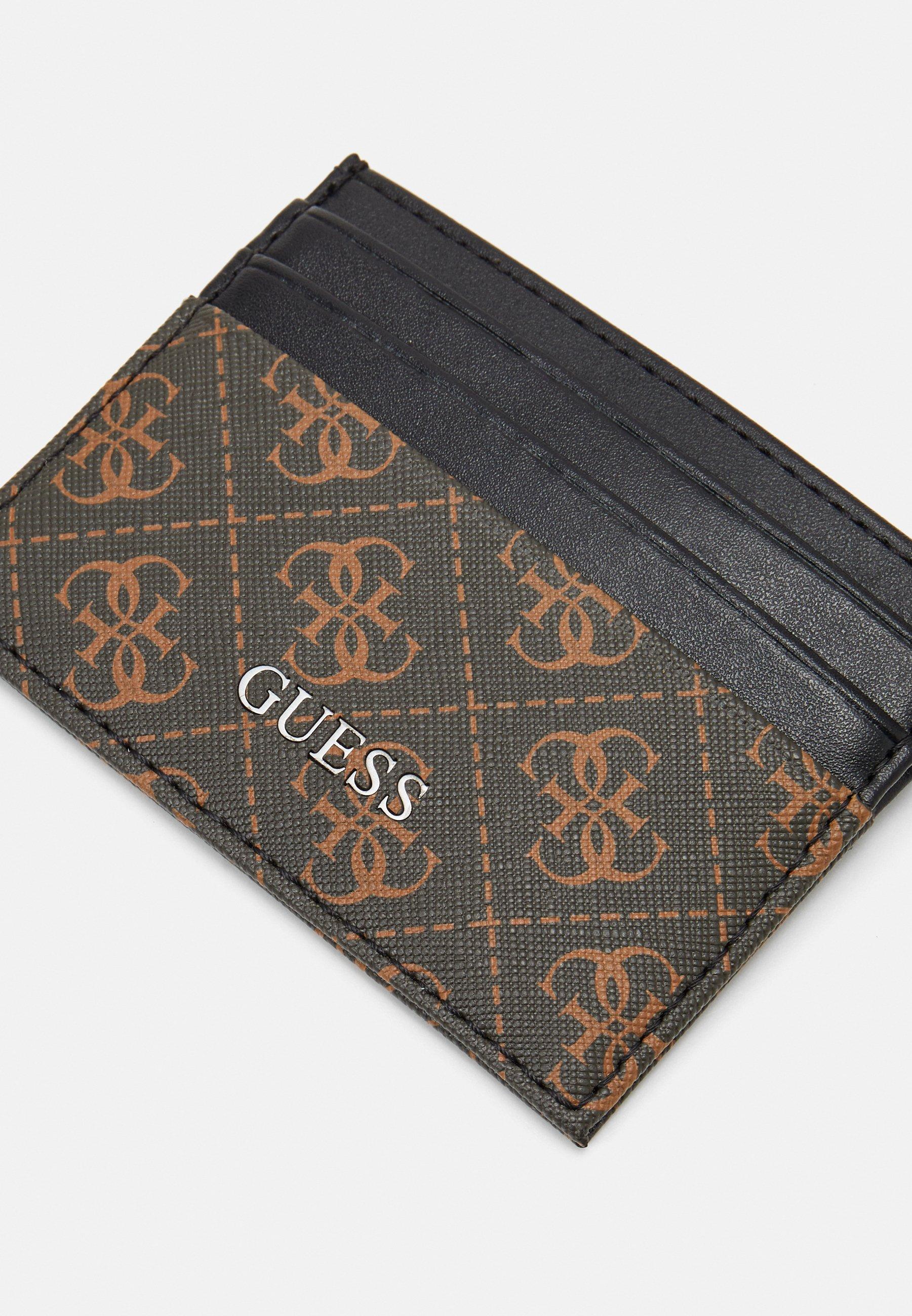 Guess VEZZOLA CARD CASE - Lommebok - brown/brun GiflmW7LHeYl48K