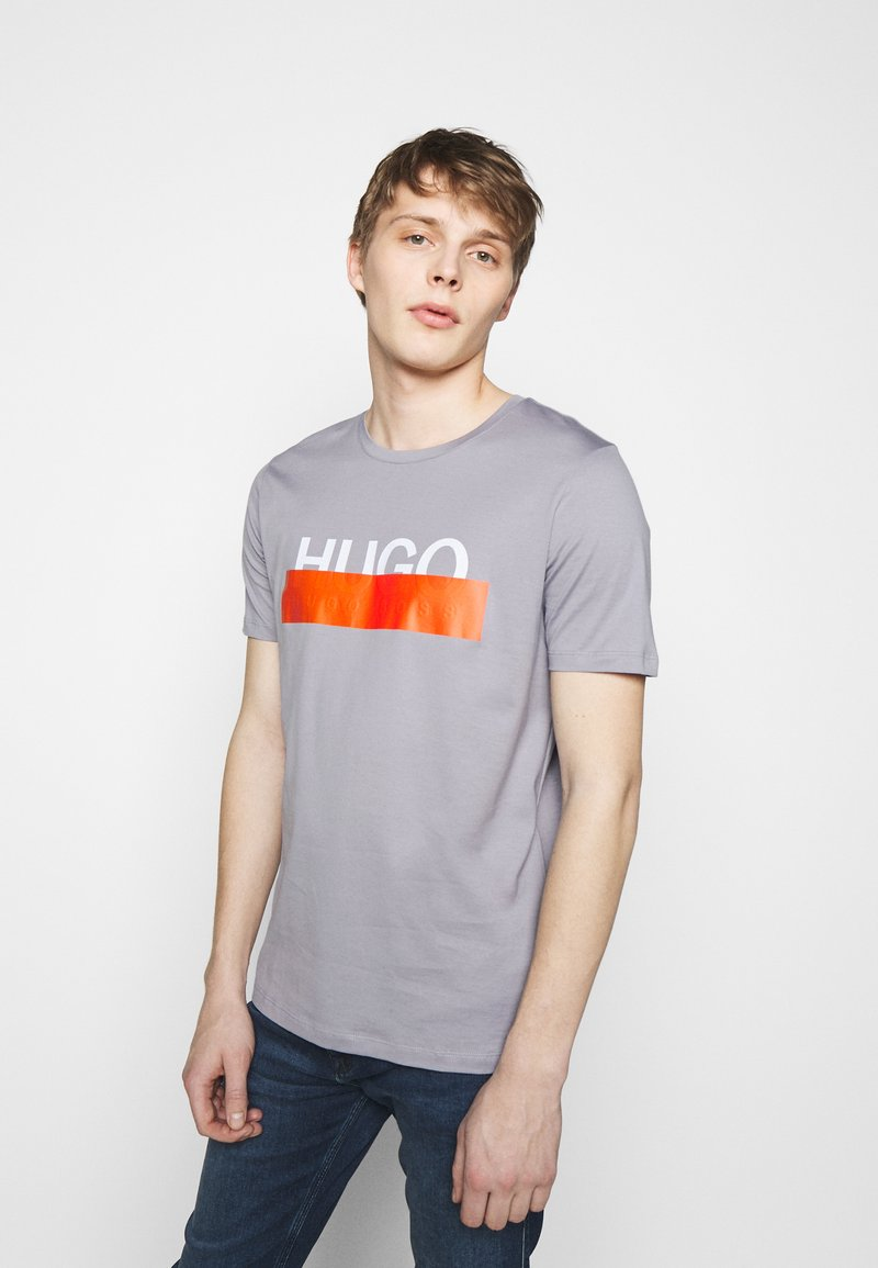HUGO - DOLIVE - T-shirt imprimé - medium grey