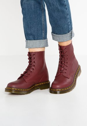 1460 PASCAL  - Lace-up ankle boots - cherry red