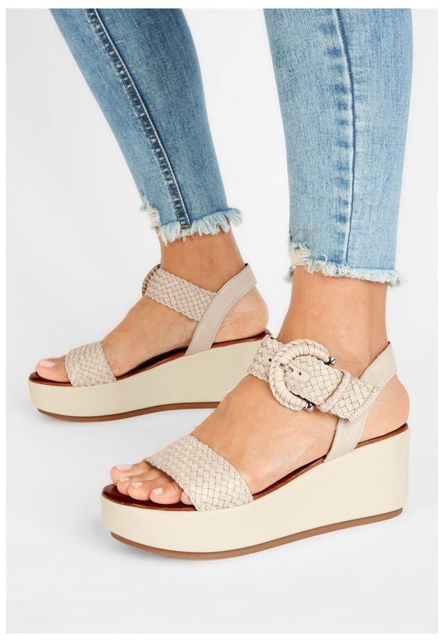 Platform sandals - bone bne