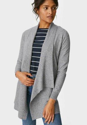 Strickjacke - gray-melange