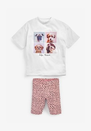 DOG - Shorts - white pink