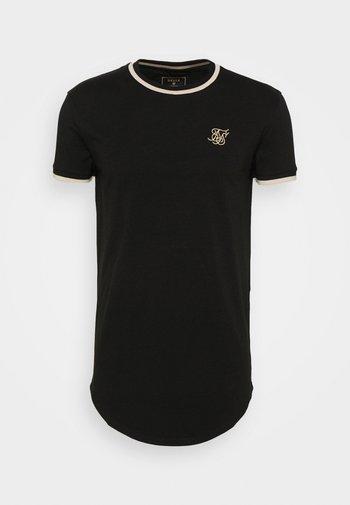GYM TEE - T-shirt print - black/gold