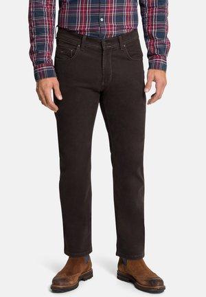 POCKET RANDO - Straight leg jeans - chocolate tarte