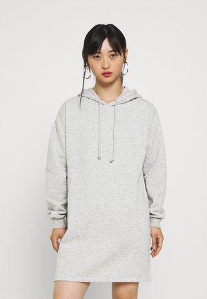 PCCHILLI HOODIE DRESS - Day dress - light grey melange
