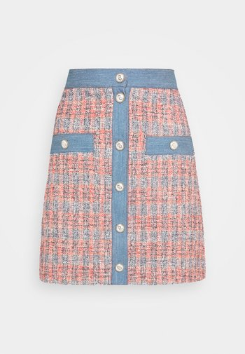 JENISE - A-line skirt - rouge/bleu