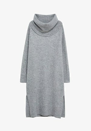 GRETA - Jumper dress - mittelgrau meliert