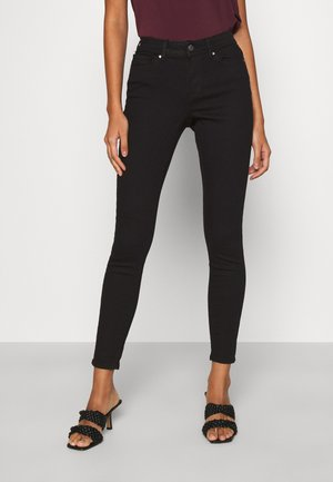 ONLWAUW LIFE MID   - Jeans Skinny Fit - black denim