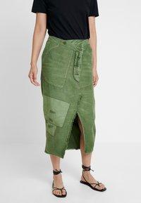 Free People - ECHO SKIRT - Pencil skirt - moss - 0