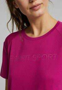 Esprit Sports - MIT LOGO-PRINT - Print T-shirt - pink - 5