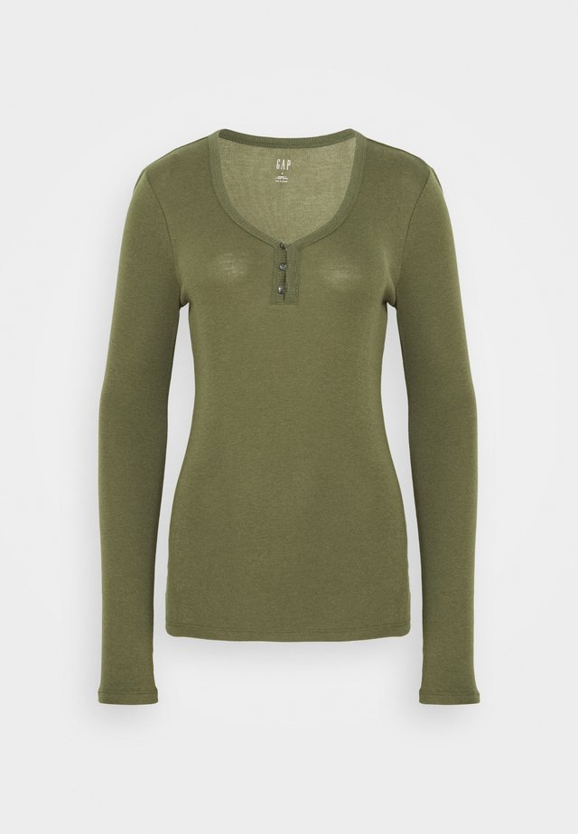 HENLEY - Long sleeved top - army jacket green