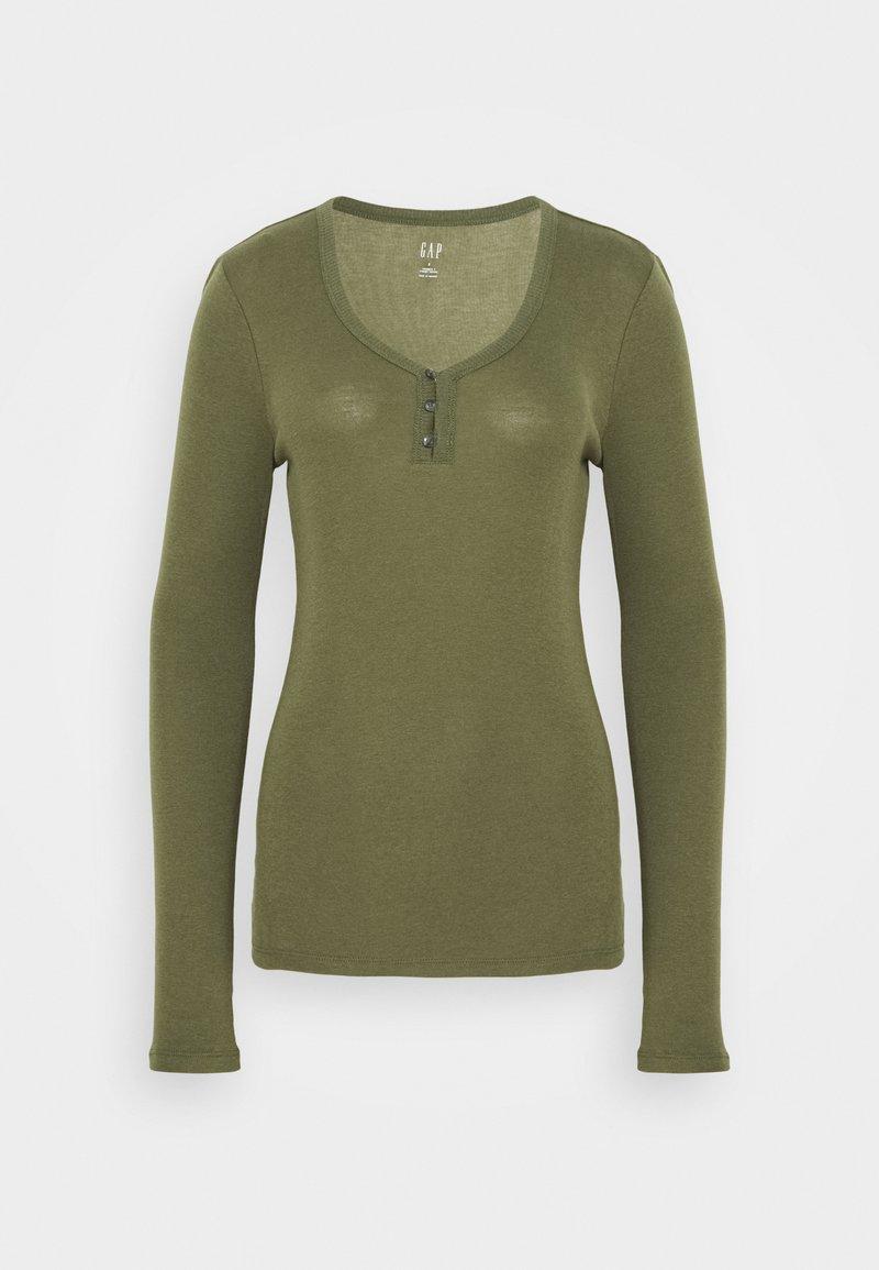 GAP - HENLEY - Long sleeved top - army jacket green