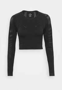 Calvin Klein Performance - LONG SLEEVE SEAMLESS  - Long sleeved top - black - 4