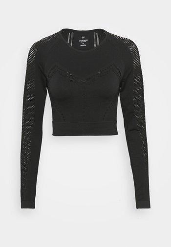 LONG SLEEVE SEAMLESS  - Long sleeved top - black