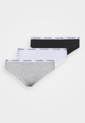 CAROUSEL PLUS SIZE THONG 3 PACK - Stringit - black/white/grey heather