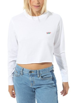 WM JUNIOR V LS CROP - Long sleeved top - white