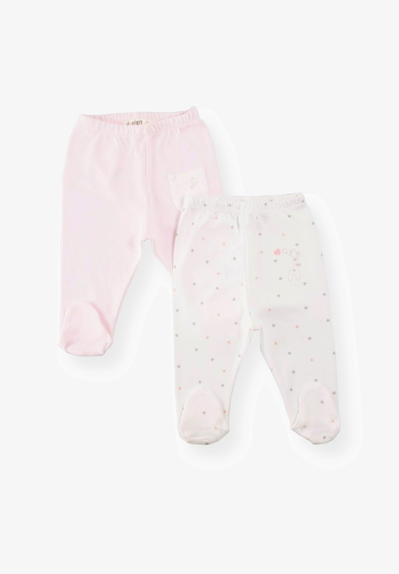 Cigit - 2 PACK - Trousers - light pink