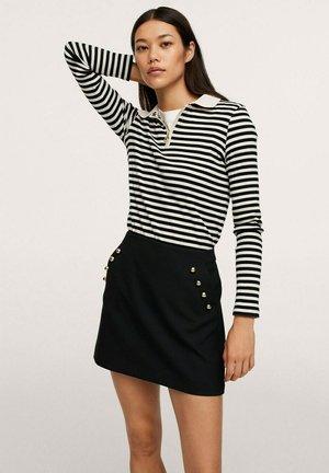 MINI DÉTAIL BOUTONS - A-line skirt - noir