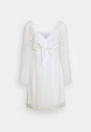 TIE FORNT DETAIL DRESS - Denní šaty - white
