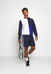 Lacoste Sport - BLOCK - Sweater - white/navy blue/cosmic - 1