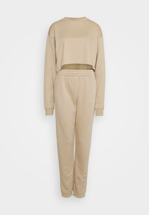 CROP JOGGER SET - Sweatshirt - cuban sand