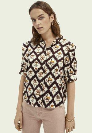 Button-down blouse - combo b