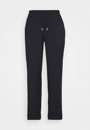 PANTS SMART JOGGING STYLE STRAIGHT LEG TURN UP - Bukser - dark night