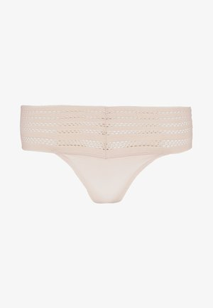 CLASSIC WIDE TRIM THONG - Stringi - sand