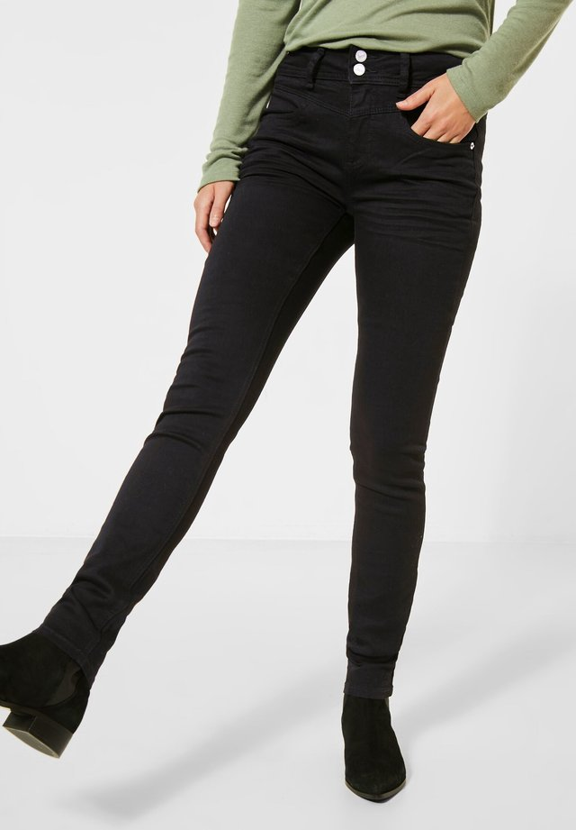 REPREVE®-HIGH WAIST DENIM - Slim fit jeans - schwarz