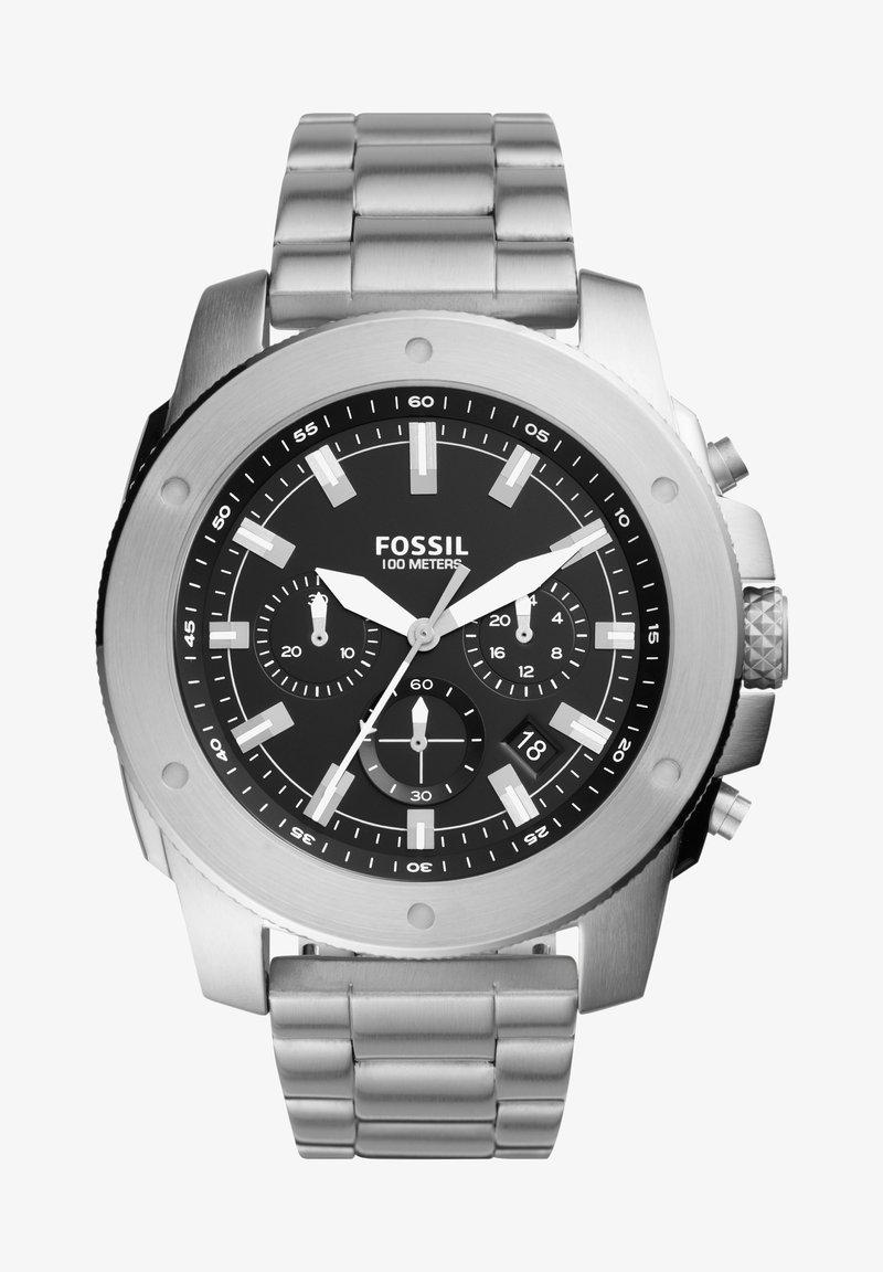 Fossil - MACHINE - Chronograph watch - silver