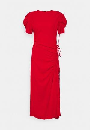 DRAPED DRESS - Maxi dress - rosso