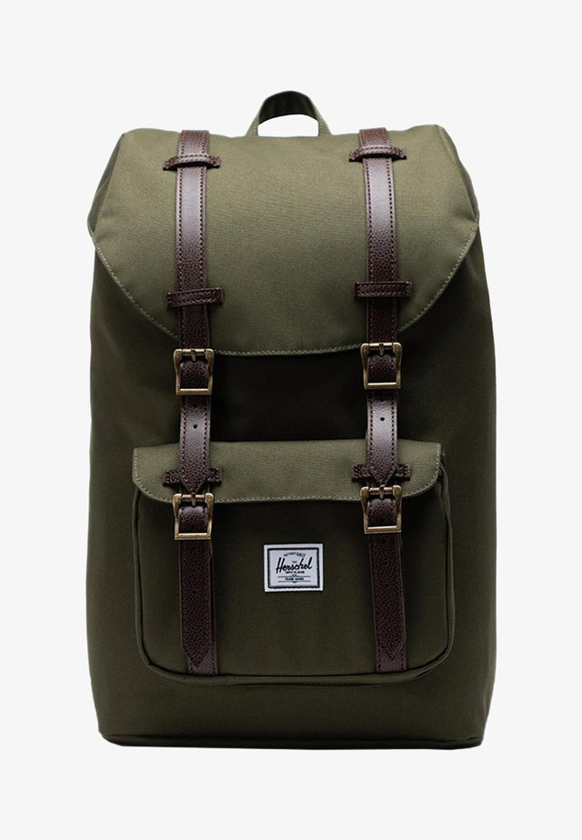 HERSCHEL LITTLE AMERICA MID VOLUME - Zaino - ivy green/chicory coffee