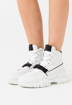 ACE - High-top trainers - white/schwarz