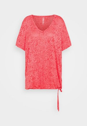 ONPALIDA REGULAR BURN OUT TEE - T-shirt z nadrukiem - coral