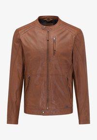 Mustang - Leather jacket - braun - 5