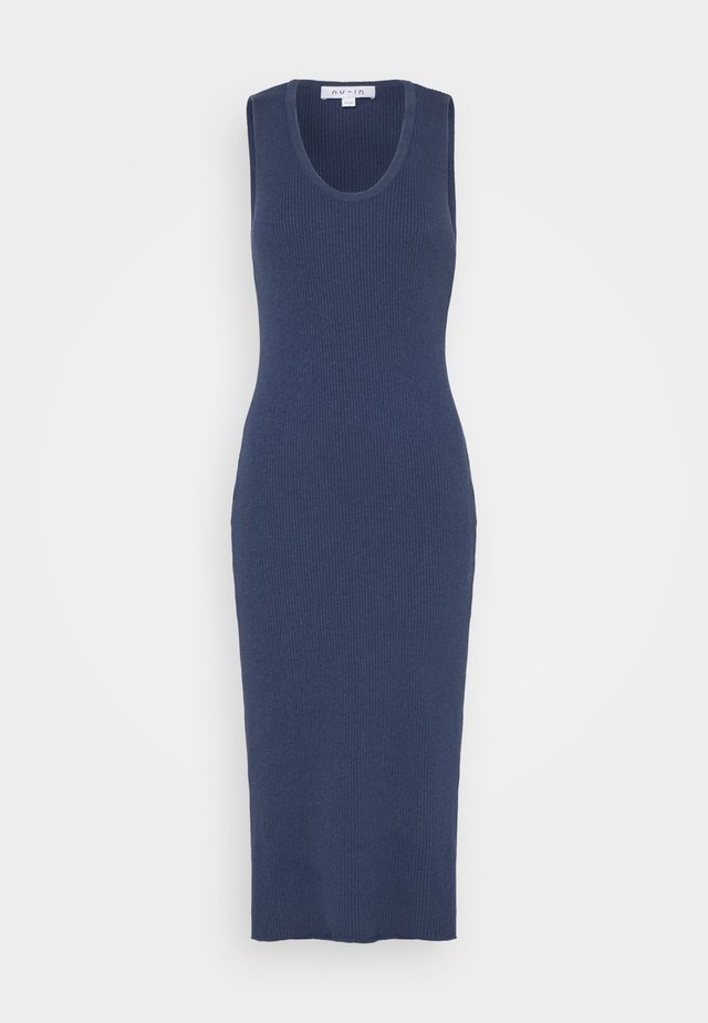 SLEEVELESS MIDI DRESS - Neulemekko - navy