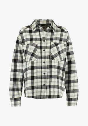 BOBBY - Button-down blouse - black/white