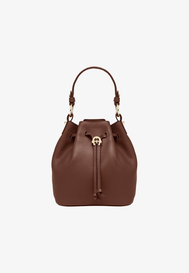 TARA - Handbag - bitter chocolate brown