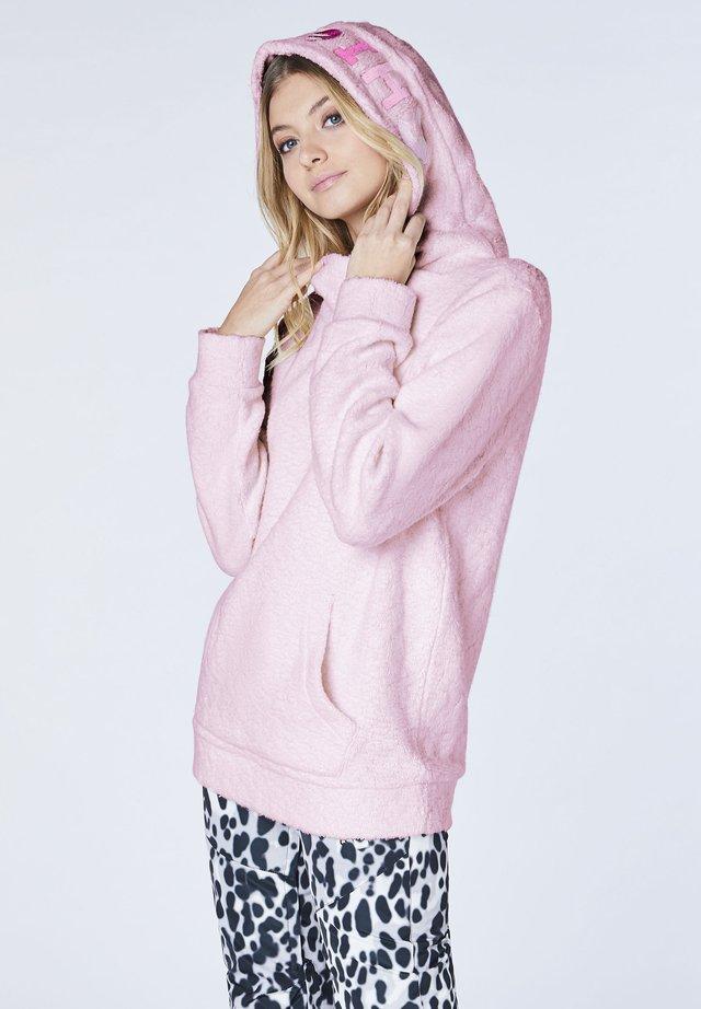 MIT GROSSEM GESTICKTEN - Hoodie - pink lady