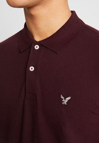 American Eagle - SLIM FIT FLEX - Poloshirt - burgundy - 4