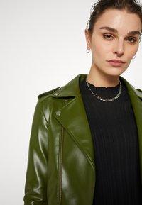 Deadwood - RIVER VEGAN CACTUS LEATHER JACKET - Faux leather jacket - green - 4