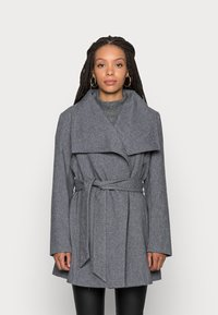 VILA PETITE - VIMOCCA BELT COAT - Short coat - grey - 0