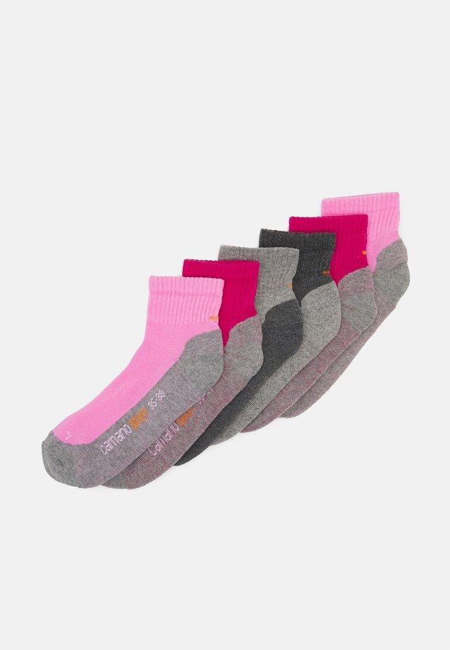 PROTEX FUNCTION QUARTERS 6 PACK UNISEX - Socks - fuchsia