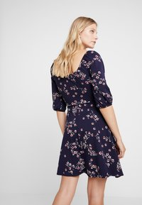 Dorothy Perkins - SLEEVE GYPSY TIE FRONT FIT FLARE - Jerseykjoler - navy - 3