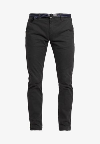 STUART WITH BELT IN STRETCH - Chino kalhoty - charcoal