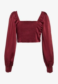Glamorous - SQUARE NECK CROPPED TOP - Blouse - claret - 1