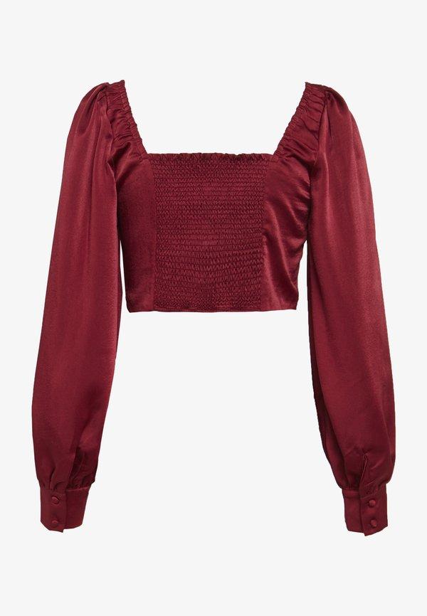 Glamorous SQUARE NECK CROPPED TOP - Bluzka - claret/bordowy VRCN