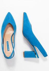 Dorothy Perkins - EMILY BLOCK HEEL SLINGBACK COURT - Escarpins - blue - 3